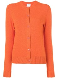 Barrie Crew Neck Cardigan Orange