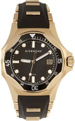 Givenchy Black And Gold Five Shark Watch