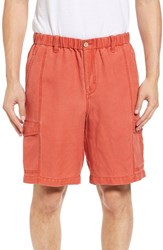 Tommy Bahama Men's Linen The Dream Cargo Shorts Red Sky