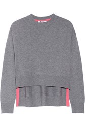 Alexander Wang T By Marled Wool And Cashmere Blend Sweater Gray