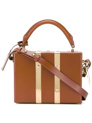 Sophie Hulme Milner Mini Satchel Women Cotton Calf Leather One Size Brown