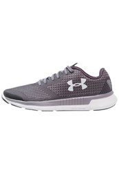 Under Armour Charged Lightning Competition Running Shoes Flint Imperial Purple Glacier Gray Grey