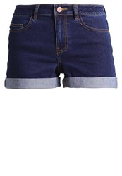 Noisy May Nmbe Lucy Denim Shorts Dark Blue Denim Dark Blue Denim