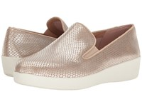 Fitflop Superskate Silver Snake Women's Clog Mule Shoes