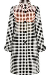 Bottega Veneta Paneled Polka Dot Wool Coat Black