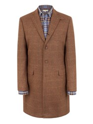 Gibson Long Vinnie Jacket With Contrast Collar Brown