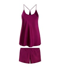 Olivia Von Halle Short Bella Pyjamas Female Purple