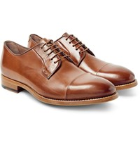 Paul Smith Ernest Polished Leather Derby Shoes Tan