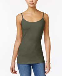 Planet Gold Juniors' Scoop Neck Tank Top Martini Olive