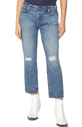 Sanctuary Disrupt Ripped And Repaired Boyfriend Jeans Flat Iron Rigid