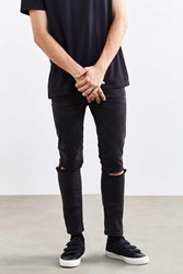 Cheap Monday Tight Cut Grey Skinny Jean Washed Black
