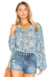 House Of Harlow X Revolve Seymore Blouse Blue