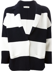 Roberto Collina Knitted Stripes Cardigan Blue
