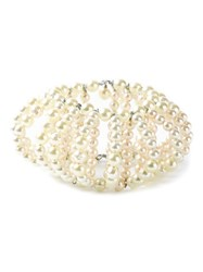 Katheleys Vintage Huge French Pearls Cuff White