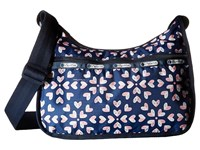Le Sport Sac Classic Hobo Bag Heart Burst Navy Cross Body Handbags Blue