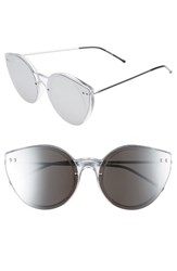 Spitfire Women's Alpha 2 60Mm Sunglasses Clear Silver Mirror Clear Silver Mirror