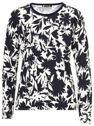 Betty Barclay Floral Print Top Black Taupe