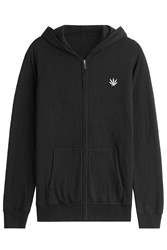 Lucien Pellat Finet Zipped Hoody With Cotton And Cashmere Black