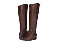 Frye Jayden Button Tall Redwood Smooth Vintage Leather Cowboy Boots Burgundy