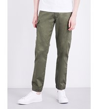 Diesel Chi United Straight Loose Fit Stretch Cotton Trousers Olive Night