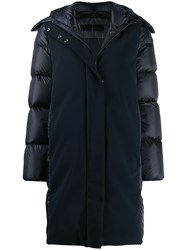 Rrd Feather Down Hooded Coat Blue
