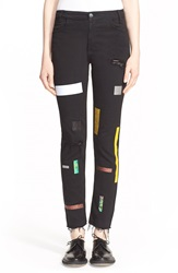 Aries Supertight Taped Slim Leg Jeans Black