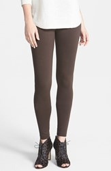Petite Women's Two By Vince Camuto Seamed Back Leggings Espresso