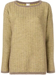 Massimo Alba Striped Sweater Neutrals