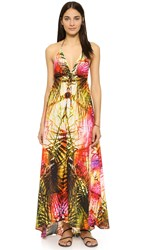 Lotta Stensson Geo Palm Sun Dress Gold