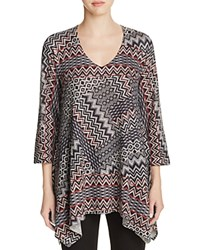 Nally And Millie Shark Bite Print Tunic Aztec Print
