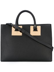 Sophie Hulme Top Handle Tote Women Calf Leather One Size Black