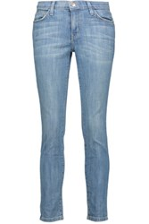 Current Elliott Low Rise Skinny Jeans Light Denim