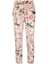 Red Valentino Drawstring Tapered Trousers Pink And Purple
