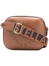 Stella Mccartney Logo Strap Mini Camera Bag Brown