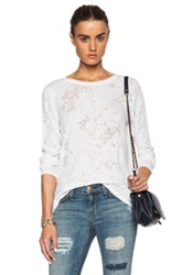 Enza Costa Loose Long Sleeve Top In White