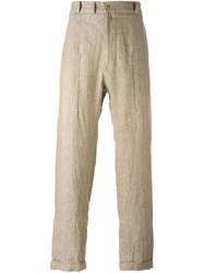 Geoffrey B. Small Loose Fit Trousers Brown