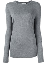 Alexander Wang T By Jersey Long Sleeved Top Grey