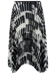 Damsel In A Dress Feathers Pleated Skirt Black White