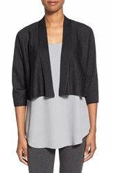 Women's Eileen Fisher Kimono Sleeve Crop Cardigan Charcoal