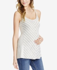 Jessica Simpson Maternity Striped Tank Top Grey