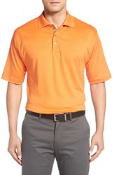 Bobby Jones Men's Solid Pima Cotton Jersey Polo Orange Tango