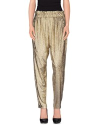 Space Style Concept Trousers Casual Trousers Women Gold