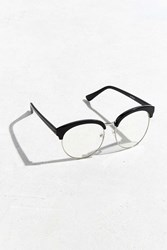 Urban Outfitters Rounded Half Frame Readers Black