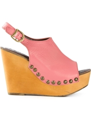 Jeffrey Campbell Wedge Sandals Pink And Purple