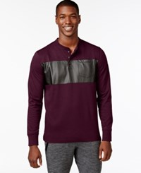 Sean John Coated Panel T Shirt Windsor Wine