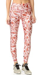 Terez Candy Canes Tall Band Pants Multi