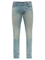 John Elliott Distressed Slim Leg Jeans Light Blue