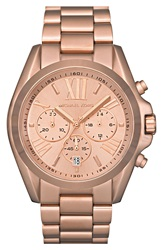 Michael Michael Kors Michael Kors 'Bradshaw' Chronograph Bracelet Watch 43Mm Rose Gold