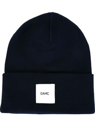 Oamc Logo Patch Beanie Blue