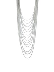 Bcbgeneration Multi Tiered Chainlink Necklace Silver